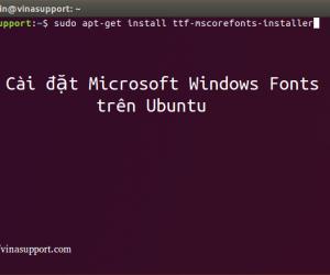 Cài đặt Microsoft Windows Fonts cho Ubuntu 16.04 và 18.04 LTS