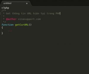 Get thông tin URL hiện tại trong PHP