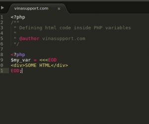 [PHP] Cách đưa code HTML vào một biến của PHP