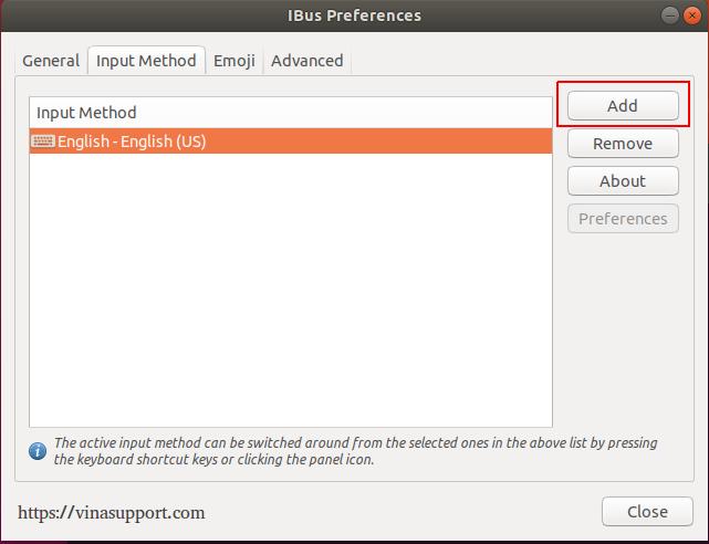 Hướng dẫn cài bộ gõ tiếng Việt ibus-unikey trên Ubuntu 18 04 LTS