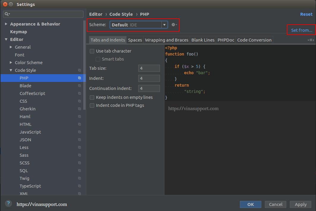 Hướng dẫn format code theo chuẩn PSR-2 cho PHPStorm - VinaSupport