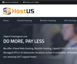 HostUS khuyến mại VPS Hồng Kông / Singapore giá rẻ chỉ từ 25 USD/năm