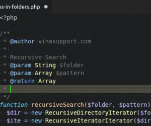 [PHP] Lấy danh sách các file trong 1 thư mục và thư mục con