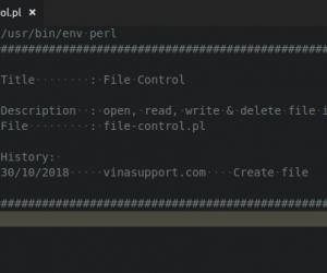 [Perl] Mở, đọc, sửa và xóa file và thư mục