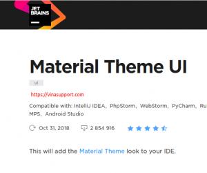Cài đặt giao diện Material Theme UI cho Jetbrains – IntelliJ IDEA / PhpStorm