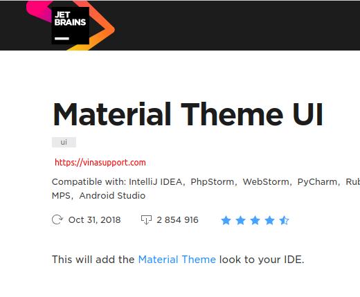 Cài đặt giao diện Material Theme UI cho Jetbrains - IntelliJ