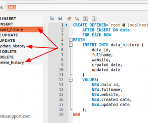 MySQL Triggers là gì? Hướng dẫn tạo bảng History sử dụng MySQL Triggers