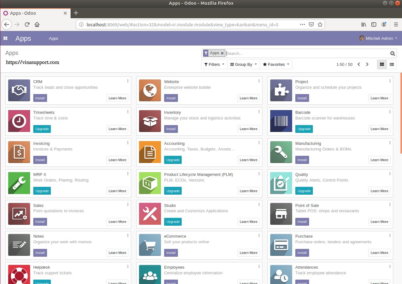 Odoo là gì? Hướng dẫn cài đặt Odoo trên Ubuntu 18 04 - VinaSupport