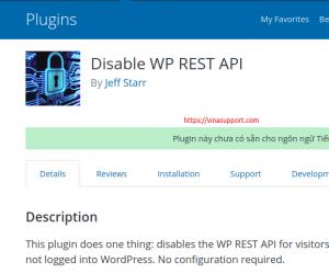 Vô hiệu hóa WordPress REST API (wp-json) để tăng bảo mật cho WordPress