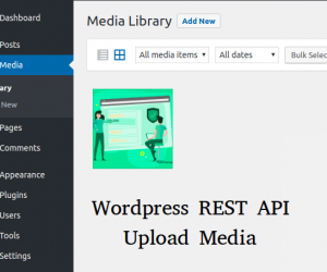 Upload Media sử dụng WordPress REST API