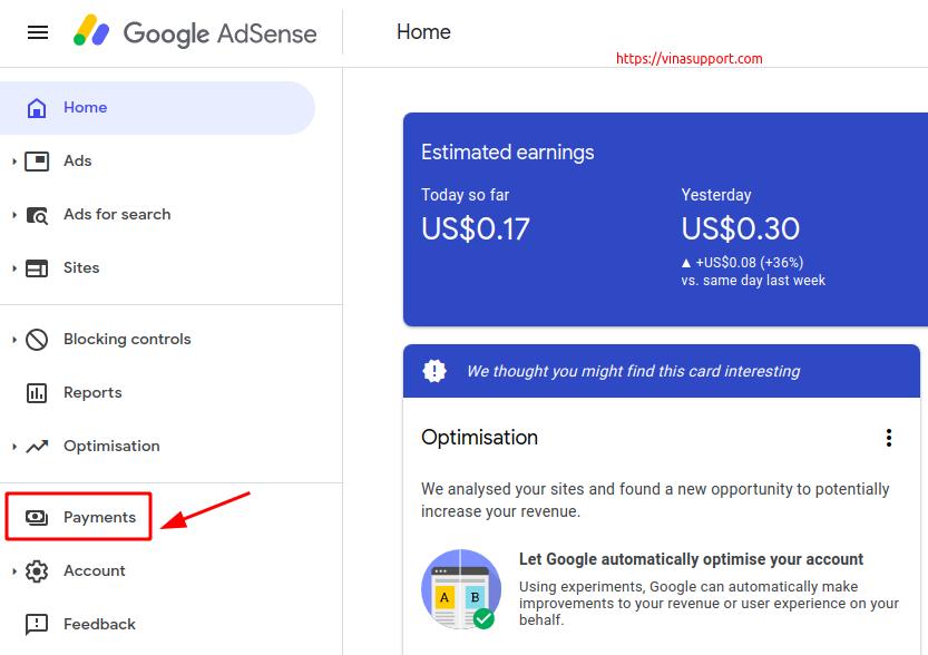 hướng dẫn rút tiền thu nhập được từ google adsense qua
