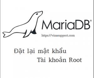 Đặt lại mật khẩu Root của MariaDB Database