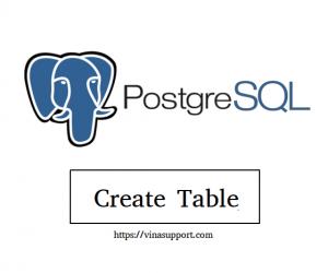 [PostgreSQL] Tạo mới bảng CSDL (Create Table)