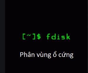 Phân vùng ổ cứng sử dụng fdisk trong Linux