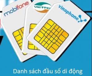 Danh sách đầu số di động các nhà mạng viễn thông Việt Nam