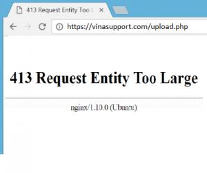 "Sửa lỗi ""413 Request Entity Too Large"" trên Nginx"