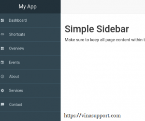 Top 10 Bootstrap Sidebar 2019 đẹp và miễn phí