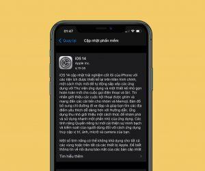 Hướng dẫn nâng cấp lên iOS 14