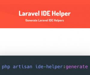 Hướng dẫn cài đặt Laravel IDE Helper