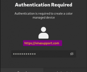 """Fix lỗi """"Authentication is required to create a color managed device"""" trên Ubuntu 20.04"""