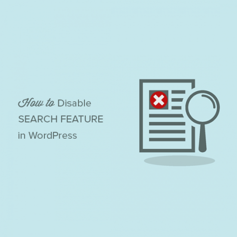 Vô hiệu hóa chức năng tìm kiếm Search của WordPress