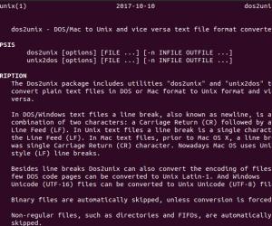 Convert định dạng file DOS tới Unix trên Linux