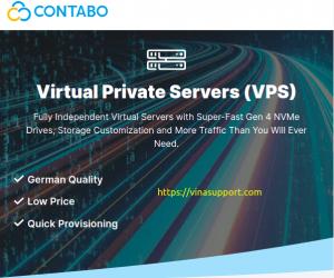 Contabo giới thiệu máy chủ VPS hiệu suất cao 4vCPU / 8GB RAM / 50GB NVMe thế hệ thứ 4 chỉ $6.99/tháng