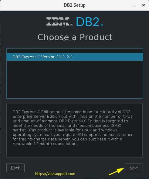Cài đặt DB2 Express-C trên CentOS 7 Step 2