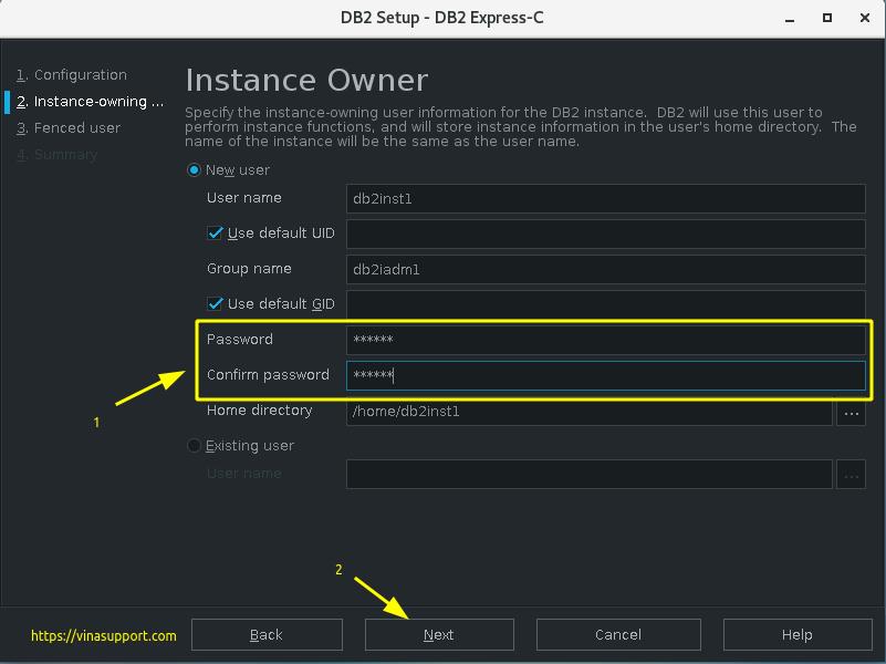 Cài đặt DB2 Express-C trên CentOS 7 Step 4