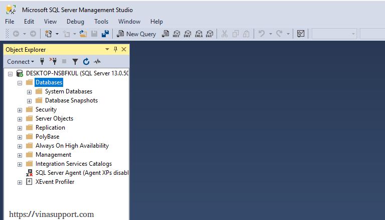 Hướng dẫn download và cài đặt Microsoft SQL Server 2016 - VinaSupport
