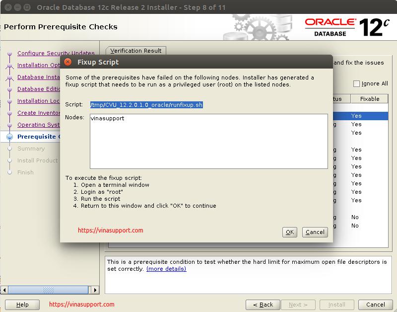 Huong dan cai dat Oracle Database 12c Tren CentOS 7.x - Buoc 10