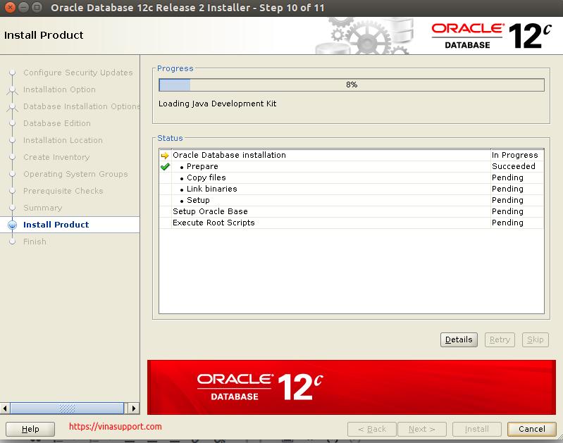 Huong dan cai dat Oracle Database 12c Tren CentOS 7.x - Buoc 12
