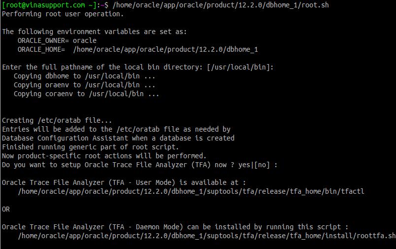 Huong dan cai dat Oracle Database 12c Tren CentOS 7.x - Buoc 14