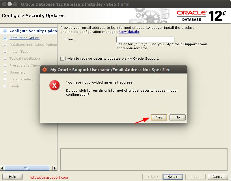 Huong dan cai dat Oracle Database 12c Tren CentOS 7.x - Buoc 2