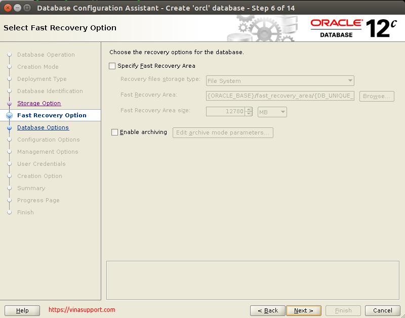 Huong dan cai dat Oracle Database 12c Tren CentOS 7.x - Buoc 29