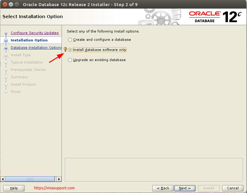 Huong dan cai dat Oracle Database 12c Tren CentOS 7.x - Buoc 3