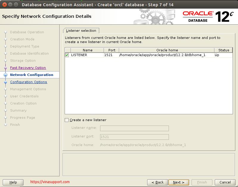 Huong dan cai dat Oracle Database 12c Tren CentOS 7.x - Buoc 30