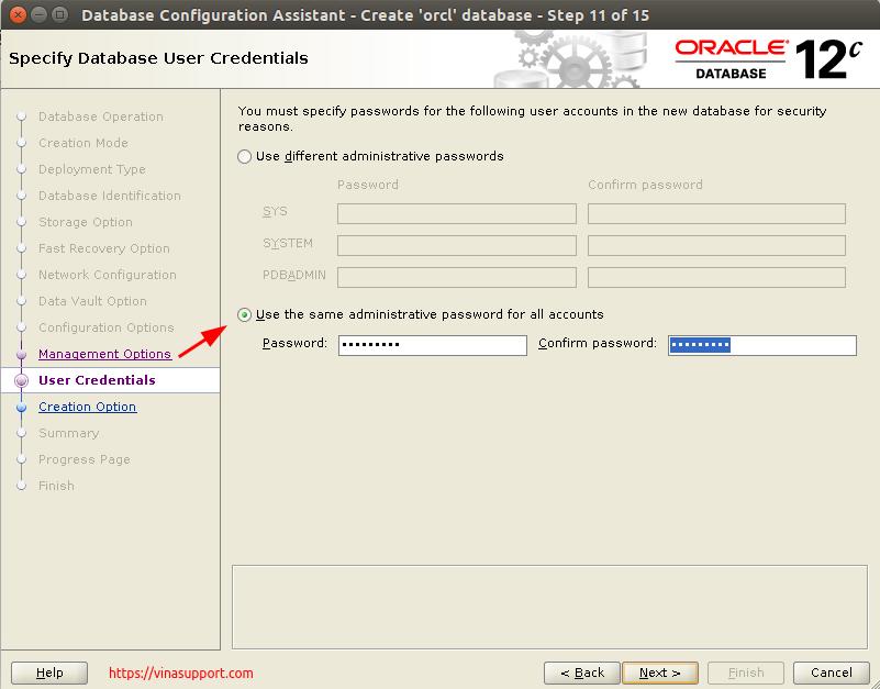 Huong dan cai dat Oracle Database 12c Tren CentOS 7.x - Buoc 34