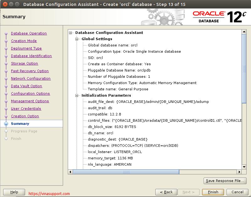 Huong dan cai dat Oracle Database 12c Tren CentOS 7.x - Buoc 36