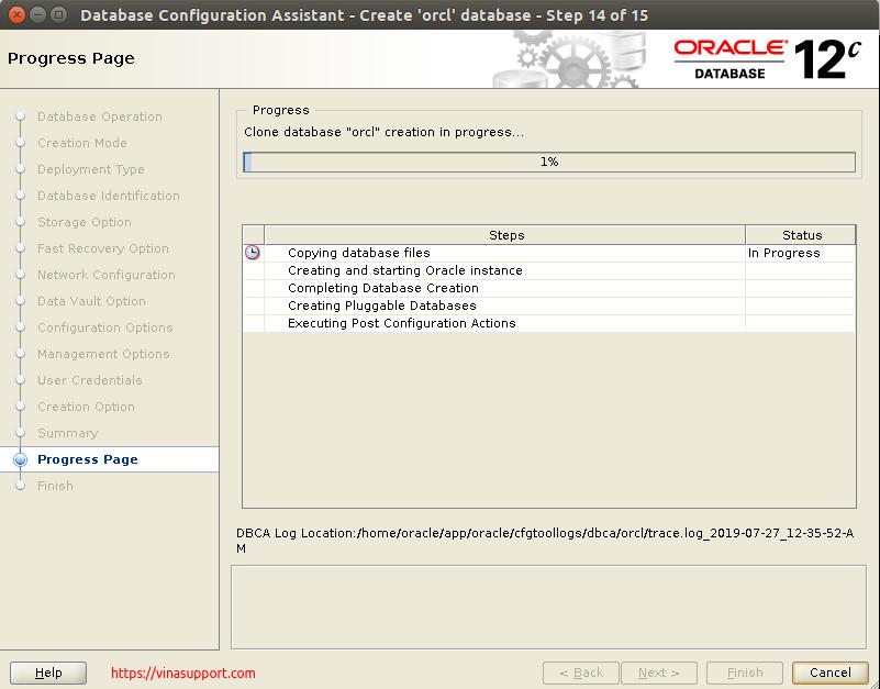 Huong dan cai dat Oracle Database 12c Tren CentOS 7.x - Buoc 37