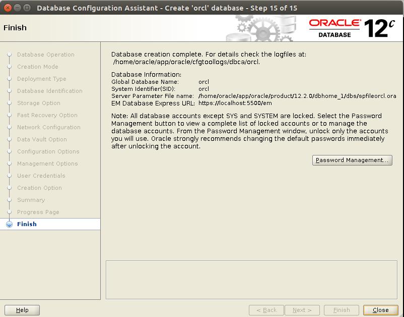 Huong dan cai dat Oracle Database 12c Tren CentOS 7.x - Buoc 38