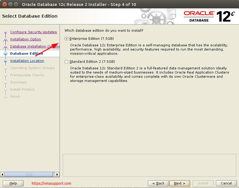 Huong dan cai dat Oracle Database 12c Tren CentOS 7.x - Buoc 5