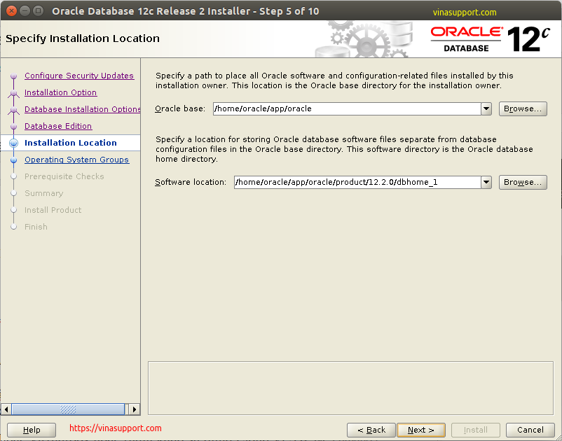 Huong dan cai dat Oracle Database 12c Tren CentOS 7.x - Buoc 6