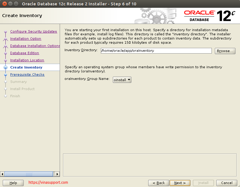 Huong dan cai dat Oracle Database 12c Tren CentOS 7.x - Buoc 7