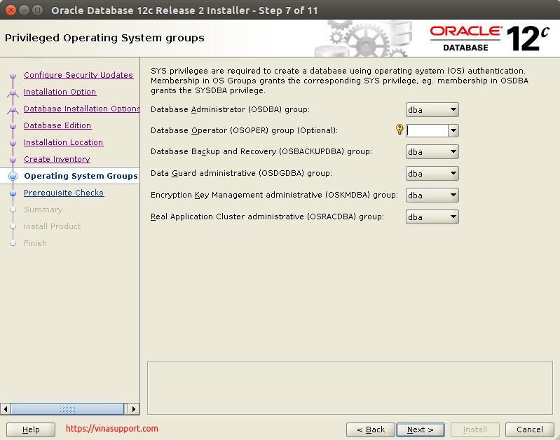 Huong dan cai dat Oracle Database 12c Tren CentOS 7.x - Buoc 8