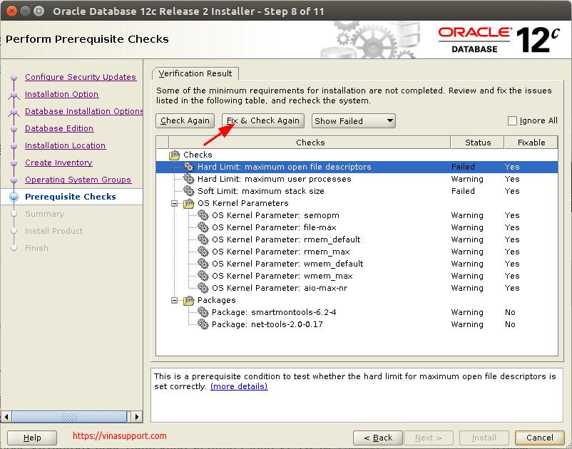 Huong dan cai dat Oracle Database 12c Tren CentOS 7.x - Buoc 9