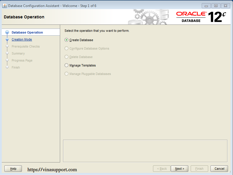 Cài đặt Oracle Database 12c trên Windows step 18