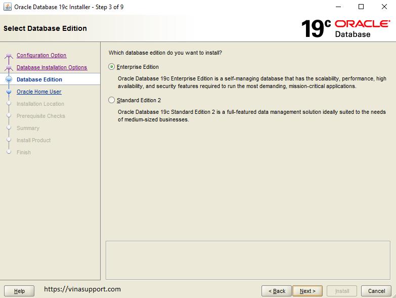 Huong dan cai dat Oracle 19c tren Windows Buoc 3