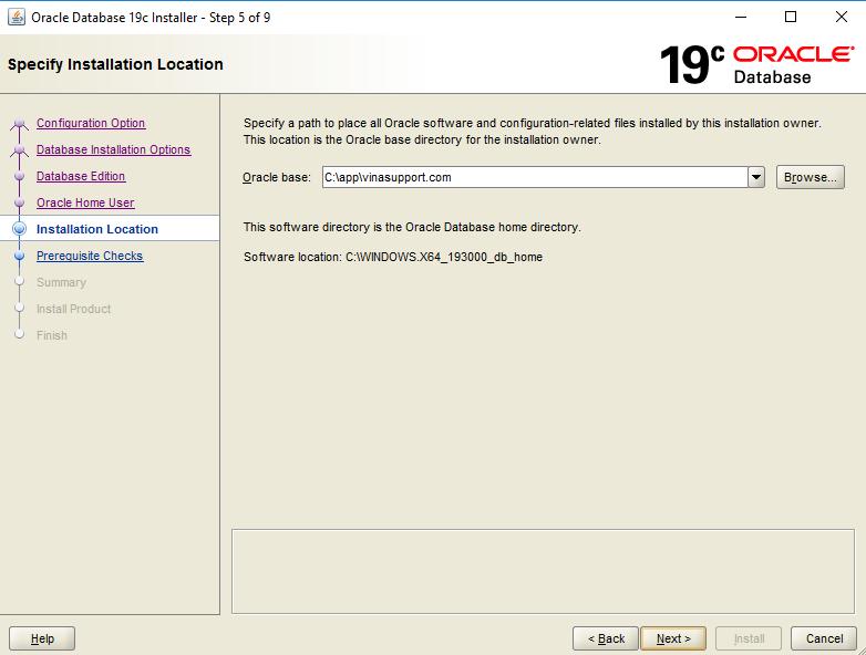 Huong dan cai dat Oracle 19c tren Windows Buoc 5