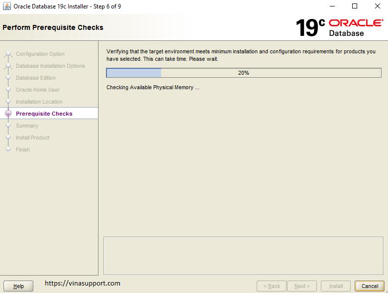 Huong dan cai dat Oracle 19c tren Windows Buoc 6